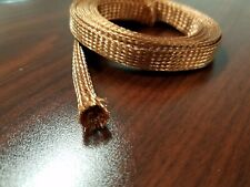 25 FEET 1/2 BRAIDED GROUND STRAP GROUNDING BARE COPPER TUBULAR BRAID USA