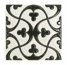12X Ceramics Traditional Vintage Splashback Feature Wall Tile Embossment -BW18SM
