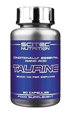 Scitec Nutrition Taurine 3000mg per serving 90caps. essential acid - free P&P