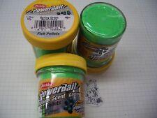Berkley Power Bait Trout Bait Glitter SpringGreen Pellets 3x50g-Glas 100g/6,66€