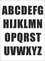 Set 26x autocollant sticker porte voiture moto alphabet lettre ABC noir
