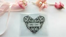 New Clear Stamp Handmade Cards Scrapbook Heart Rubber Stamp CS072