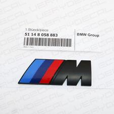 Matte Black M Series Emblem Badge Sticker Car Rear Trunk Performance Abs 883