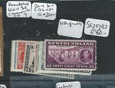 NEWFOUNDLAND (P0309B) KGVI CORONATION SG 257/267  MOG