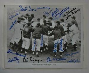 Willie Mays 1951 New York Giants Team Signed 8x10 JSA LOA 21 Signatures Rare