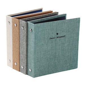 Fashion Multi-color Jute Photo Album Holder Cloth Album Kid Photo Album DMF
