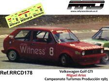 DECAL/CALCA 1/43; Volkswagen Golf GTI; Miguel Arias; CET produccion 1985