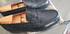 CHAUSSURES  JM  WESTON  180  MOCASSINS cuir de lézard noir