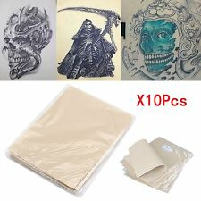 Pack of 10 Learn Blank Tattoo Tattoos Fake False Practice Skin 20x15cm Synthetic
