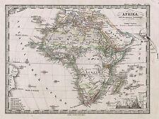 1862 Stieler Mappa Africa vintage repro poster arte FOTO 2938pylv