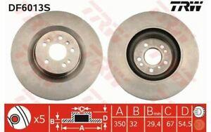 2x TRW Disques de Frein Avant Ventilé 350mm pour MERCEDES-BENZ CLASSE R DF6013S