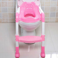 KIDS BABY CHILD PINK TODDLER POTTY LOO TRAINING TOILET SEAT&STEP LADDER GIFTS