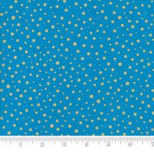Moda Fabric Modafications Metallic Dots Turquoise - per 1/4 Metre