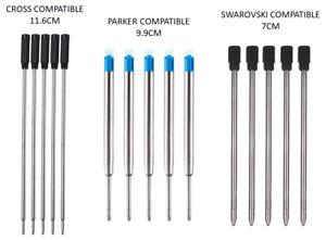 Black Or Blue Ballpoint Pen Refills Parker Or Cross Compatible Ink Refills 8513