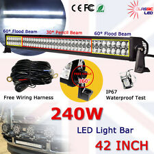 "42"" 240w LED Light Bar Jeep Wrangler TJ/JK With Wiring Harness 22800LM 300w/180w"
