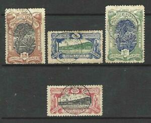 NEW HEBRIDES 1903 SYNDICAT FRANCAIS POSTE LOCALE USED SET OF FOUR STAMPS