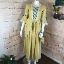 Modern Reenactment Handmade Costume S Small Colonial Floral Maxi Prairie Dress