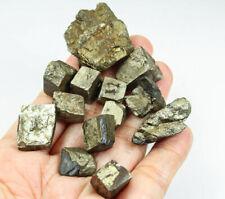 348Ct Natural Brazilian Pyrite Crystal Cube Facet Rough Specimen YYT36