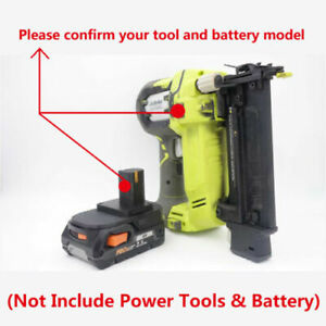 RYOBI 18V Tools PRECISE Adapter Work with AEG/RIDGID 18V Slider Li-ion Batteries