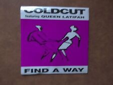 1990 7 INCH COLDCUT & QUEEN LATIFAH-FIND A WAY-CAT. NO. CCUT8-AS NEW