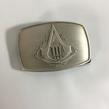 Assassins Creed Belt Buckle III 3 Limited Collectors Edition Silver Tone Logo