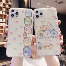 11 Pro Cartoon Sumikko Flower Relief Soft Cover For iPhone 7 8Plus XR XsMax Cute