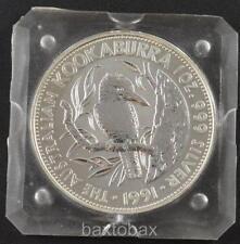 1991 AUSTRALIA KOOKABURRA 1 oz. $5 SILVER COIN *BU* Original Square Mint Cap