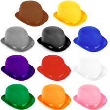 Choose Color Adult Dress Up Party Halloween Costume Head Accessory Bowler Hat