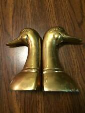Antique Brass Goose Leonard bookends Great Condition!