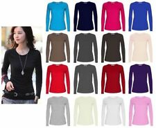 Unbranded Patternless Viscose Crew Neck T-Shirts for Women
