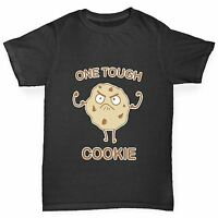 Twisted Envy Boy's One Tough Cookie Funny Cotton T-Shirt
