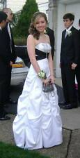 White and Black Prom Dress