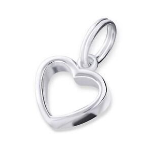 Silvadore HEART Love 3D 925 Sterling Silver Split Ring Charm Bracelet Box 020
