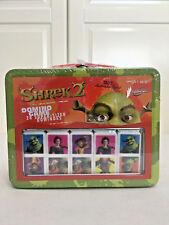 2004 Sababa Toys Dreamworks Shrek 2 Dominos Game Set Tin Lunch Box