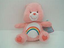 2003 care bear cheer bear pink rainbow small  stuffed animal plush original tag
