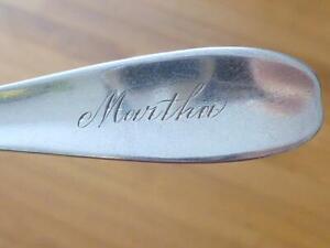 1891 MARTHA Reed & Barton Athenian Engraved Sterling Silver Souvenir Spoon