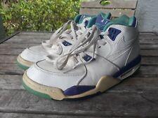 Nike Air Flight 89 Grape Dark Concord Jade White Hi Top 306252-113 Sz 9.5 Shoes