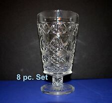 Vintage Cutglass Iced Beverage Glass 8 pc Set Drinkware Dining