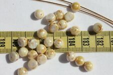 CzechMates Cabochon 7mm Opaque Luster Picasso Crafts Jewelry Making  25pcs/401
