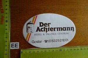 Alter Aufkleber Hotel Tagungszentrum DER ACHTERMANN Stadt Goslar