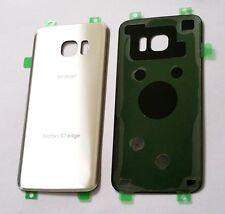 Original OEM Back cover Glass For Samsung Galaxy S7 Edge Verizon G935V~SILVER~US