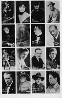 Real Photo Postcard Sample Order Card Actors Head Shots Will Rogers~112275