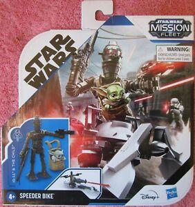 Star Wars mission fleet speeder bike IG-11 and the child