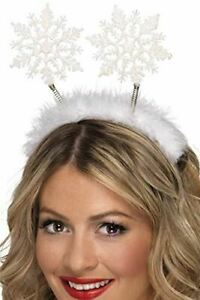 Snowflake Boppers Headband Christmas Fancy Dress Party Accessory