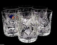 Set of 6 Russian Cut Crystal Rocks Glasses 11 oz - Soviet Scotch Whisky DOF