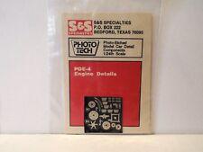 S&S PDE-4 1:24-25 PHOTO-ETCHED HIGH TECH ENGINE DETAILS MOC (KS111)