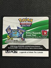 Pokemon Lunala Gx Sm17 Legends of Alola 2017 Online Promo Code