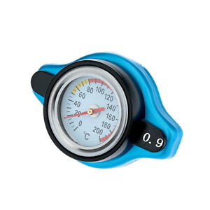 For Cars Suv 0.9Bar Car Thermost Radiator Cap Cover+ Water Temp Gauge Small Head