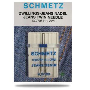 Nähmaschinennadeln, Jeans Zwillingsnadel  -  4,0 / 100, Inhalt: 1 Stück