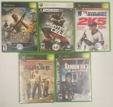 Lot of 4 xbox Games and 1 Xbo 360 Game (Read Description)